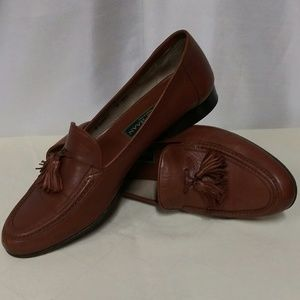 Cole Hann Made In Italy Brown Leather Loafer Shoes